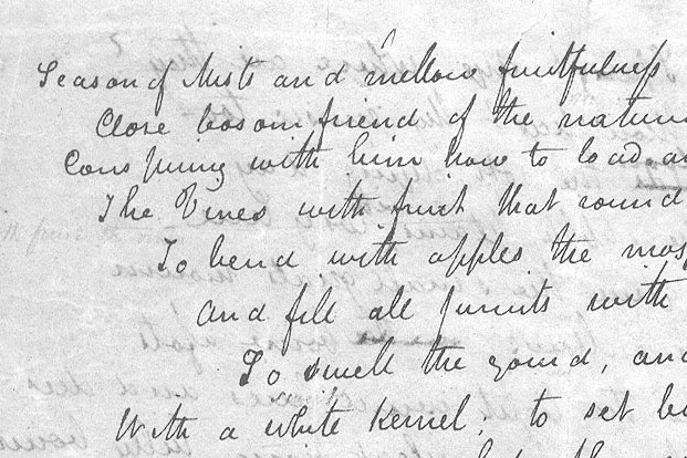 The letters of John Keats are appearing online